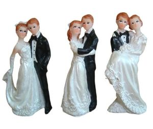 Wedding Polyresin Craft Figurine/Wedding Resin Cake Topper