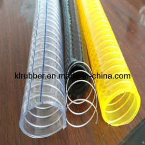 Clear Steel Wire Reinforced PVC Suction Hose Kl-A00121 pictures & photos