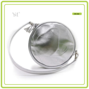 Wholesale Fashion Shiny Silvery Round Shape Lady Handbag pictures & photos