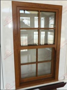 Woodgrain PVC Double Hung Window (BHP-LW08) pictures & photos