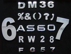 Number and Letter Sticker