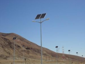 Solar LED Street Light with Double Arm with Great Energy Saving pictures & photos