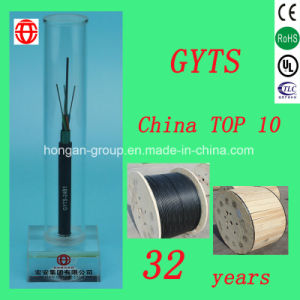 GYTS 32 Core Single Mode Fiber Outdoor Stranded Armored Optical Fiber Cable with Loose Tube for Aerial pictures & photos