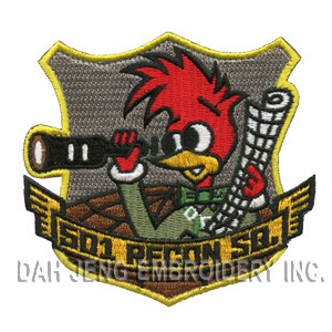 100 % S01 Recon SQ Cartoon Embroidered Patches pictures & photos