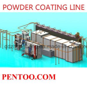 Electrostatic Powder Coating Line for Alumunium Profile pictures & photos