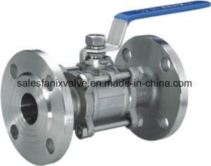 ANSI 3PC Type Ball Valve with Flange pictures & photos