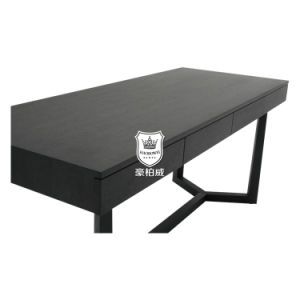 Modern Simplicity Hotel Writing Desk Black in Perfectly Lacquer Finish pictures & photos