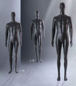 Fashion Male Mannequin with Matt Black Color pictures & photos