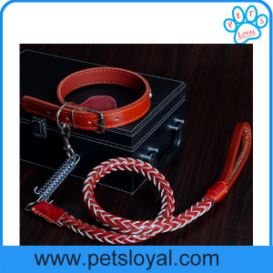 Factory Leather Pet Lead Collar Dog Leash pictures & photos