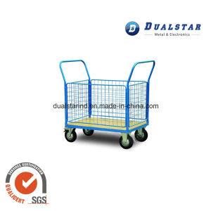 Double Handle Logistics Trolley for Factory