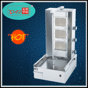 Commercial Three Burners Gas Shawarma BBQ Kebab Broiler Machine on Sale pictures & photos
