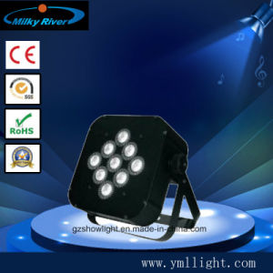 9PCS 3-in-1, 4-in-1, 5-in-1, 6-in-1 LED PAR Light (rechargeable batter +wireless DMX) Flat PAR Light pictures & photos