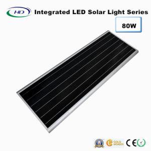 80W PIR Sensor Integrated LED Solar Street Light pictures & photos