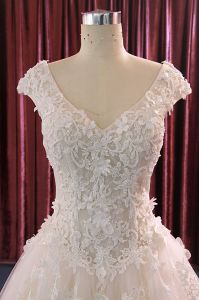 A Line Top Sale Real Pictures Wedding Dress pictures & photos