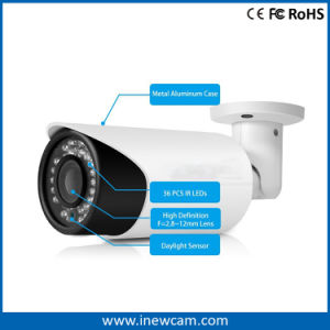 4MP Motorized Zoom Lens Auto Focus Poe Bullet IP Camera pictures & photos