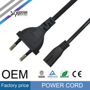 Sipu 2pin EU Power Cord AC Computer Power Cable pictures & photos