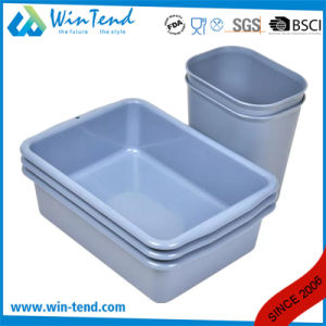Square Tube Cleaning Clearing 90degree Legs Garbage Cart with Bin and Basket pictures & photos