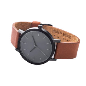 Simple Design Cheapest Leather Promotional Watch OEM Item 72035 pictures & photos