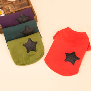 Quality Cotton Star Pet Pure Shirt Fashion Dog Tee pictures & photos