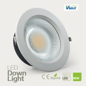 High Brightness LED Downlight 30W Recessed High CRI COB Light Source No UV Radiation pictures & photos