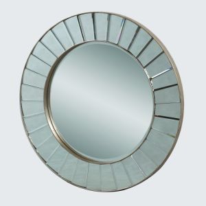 Home Decorative Wooden Wall Mirror Frame Round Shape pictures & photos