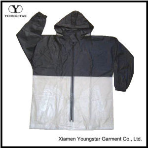 Breathable Lightweight Raincoat Mens Portable Rain Jacket with Hood pictures & photos