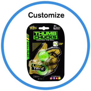 Thumb Chucks Aerial Roll Yoyo Ball Hand Fidget Skill Toy pictures & photos
