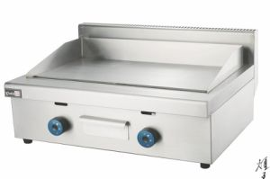 Industrial 2 Burners Tabletop Flat Plate Gas Grill Griddle with Good Price pictures & photos