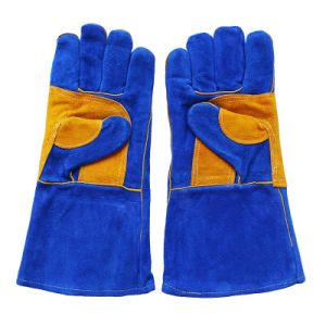 Cowhide Split Leather Labor Welders Working Gloves pictures & photos