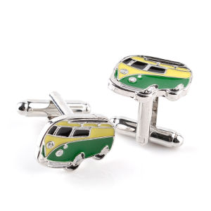 Zinc Alloy Metal Cuff Link for Men, Color Enamel Cuff Button pictures & photos