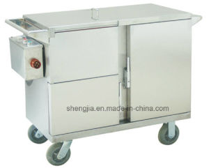 Sjt055 Cart for Delievring Meals with Heat Preservation Produced by Electric Heating (heat-storey type)
