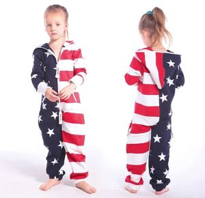 High Quality Customized Flag Hooded Jumpsuits/One Piece Jump in Suit Zipped Hoodie pictures & photos