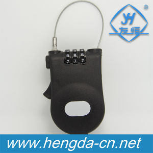 Yh9909 Retractable Cable Combination Plastic Luggage Lock pictures & photos