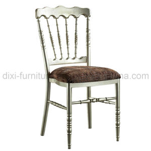 Wedding Aluminum Napoleon Chair with Fixed Seat Cushion pictures & photos