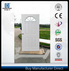 Fantile Glass Cedar Stile Wood Prehung Steel Metal Door pictures & photos