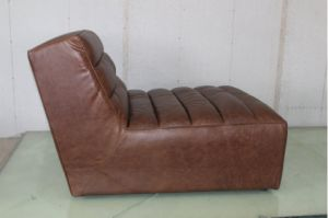Full Leather Sofa Without Armrest, Vintage Leather Sofa pictures & photos