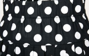 2017 Newest Woman Design Apparel Black and White Dots Print Long Beach Skirt pictures & photos