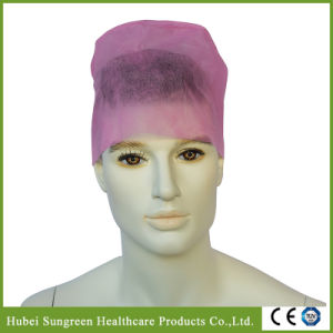 Disposable Non-Woven Surgical Cap with Elastic at Back pictures & photos