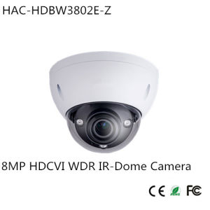 8MP 4k Hdcvi WDR IR-Dome Camera (HAC-HDBW3802E-Z) pictures & photos