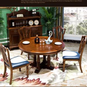 Oak Dining Room Dinner Wooden Solid Wood Table as-836 pictures & photos