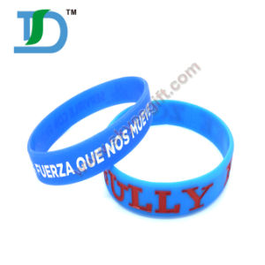 Silk Printed Silicone Wristband with Qr Code pictures & photos