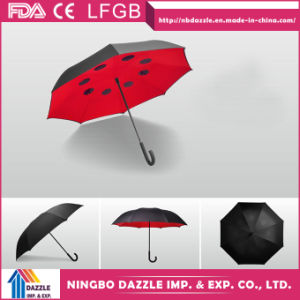 China Double Layer Inverted Windproof Upside Down Umbrella pictures & photos