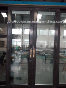 Woodwin New Product Wood and Aluminum Composite Sliding Door pictures & photos