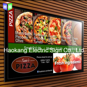 LED Picture Frame Menu Board Light Box for Restaurant Wall Advertising Sign pictures & photos