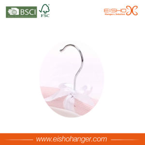 Beautiful Pink Color Satin Clothes Hanger for Garment pictures & photos
