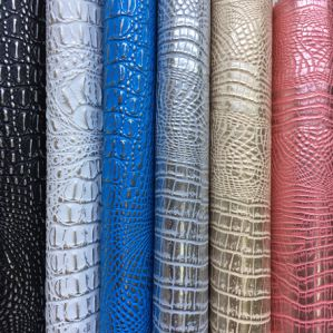 Shinny PVC Faux Crocodile Leather for Handbag Upholstery pictures & photos