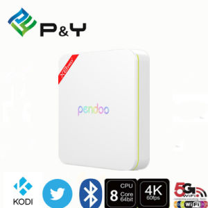2016 Beautiful Design! Android6.0 Amlogic S912 Global TV Box Kodi Pendoo X8 PRO WiFi 2.4G/5g TV Box pictures & photos