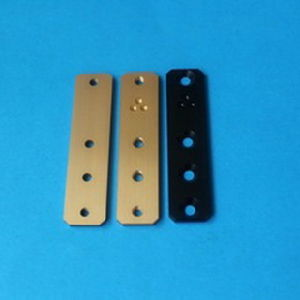 Precision Machining Guitar Control Plate, Gold Plated Aluminum Control Plate pictures & photos