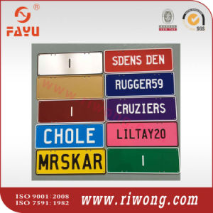 Customized Metal Number Plate pictures & photos