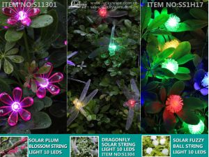 Solar Plum Blossom String Light 10 LEDs pictures & photos